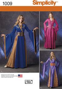 Fantasy kjoler. Simplicity 1009.