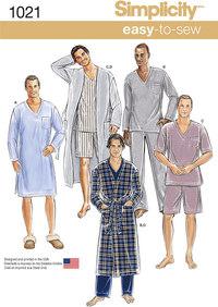 Pyjamas og morgenkåber. Simplicity 1021.