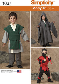 Lette kostumer til drenge. Simplicity 1037.