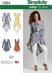 Tunika og kjoler med slå-om effekt
