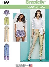 Short, knickers og lange bukser. Simplicity 1165.