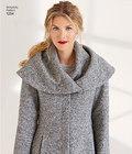 Foeret frakke med hætte eller foldekrave - Leanne Marshall