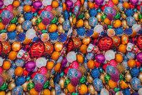 Bomuldsjersey med kulørte glaskugler