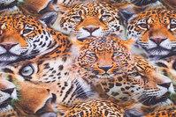 Bomuldsjersey med leoparder
