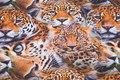 Bomuldsjersey med leoparder.