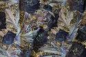 Bomuldsjersey i marine og gylden