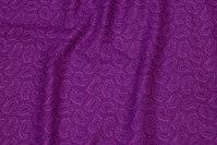 Fast bomuld med lilla Paisley mønster