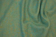 Flot frakkeuld i lys turkisgrøn med gyldne nister
