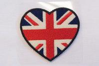 Hjerte med flag 6x6cm