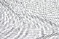 Let hvid micro-polyester med sort miniprik