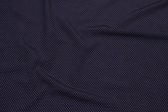 Let marine micro-polyester med hvid miniprik