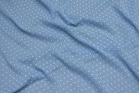 Lyseblå, let transparent polyester chiffon med flock-prik