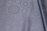 Mellemgrå polyester-jacquard til duge m.m.