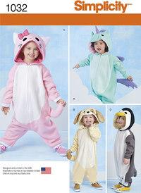 Dyreudklædning til børn. Simplicity 1032.