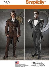 Rollespils steampunk kostumer. Simplicity 1039.