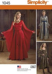 Fantasy kjoler. Simplicity 1045.