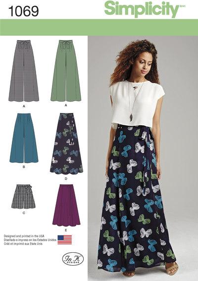 Lange nederdele og buksenederdele