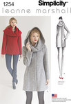 Simplicity 1254. Foeret frakke med hætte eller foldekrave - Leanne Marshall.