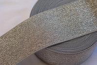 Sølv elastik bælte 6cm