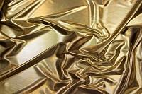Sølvfarvet polyesterjersey med folietryk