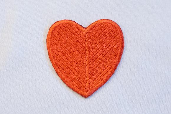 Stort rødt hjerte 4x4cm
