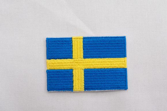 Svensk flag strygemærke 4x6cm