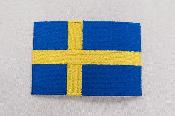 Svensk flag strygemærke 6x9cm