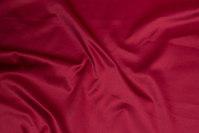 Vinrød bomuld og polyester stræksatin til bukser m.m.