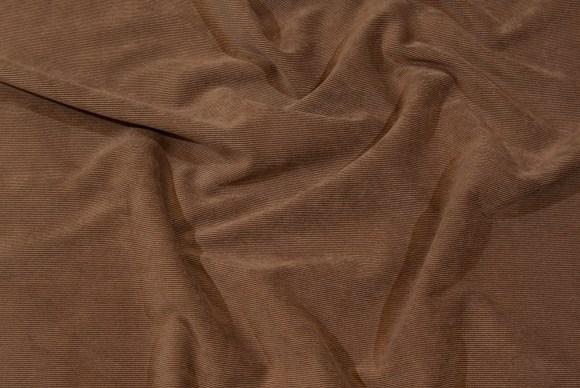 Lysebrun babyfløjlvariant i polyester-spandex