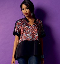 Top, bluse. Butterick 5955.