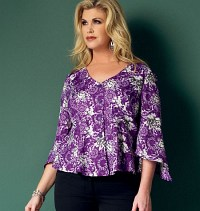 Top. Butterick 5967.