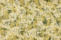 Deko-bomuld med grønt bladmønster