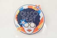 Disco Beat strygemærke Ø7cm