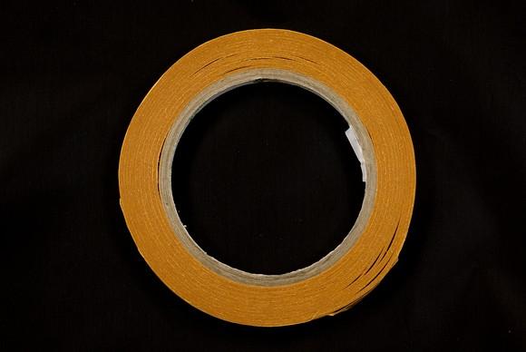 Dobbeltklæbende tape 9mm  bred, 25 meter