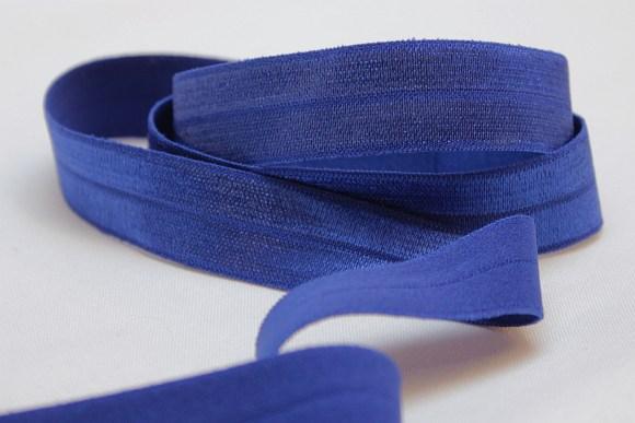 Elastik kantebånd coboltblå 2 cm. br.