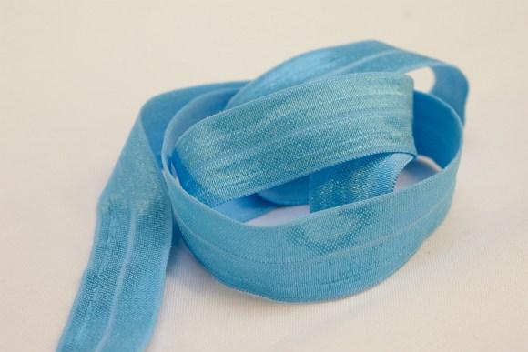 Elastik kantebånd - klar lyseblå 2 cm. br.