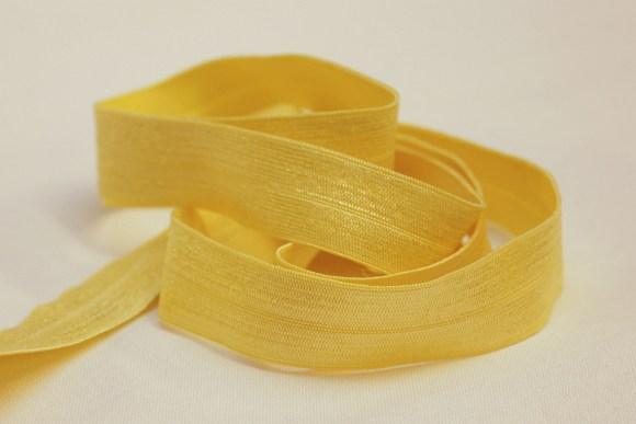 Elastik kantebånd - gul 2 cm. br.