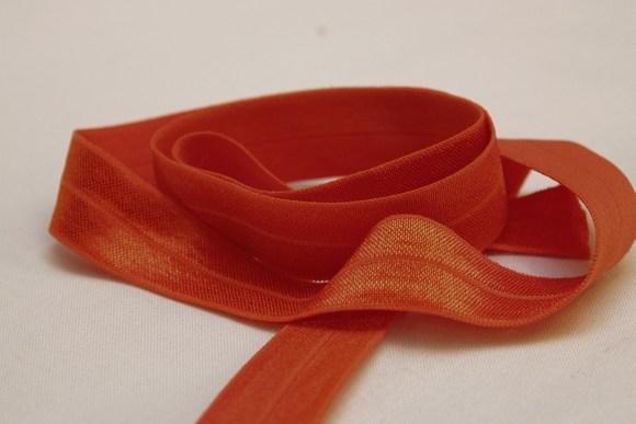 Elastik kantebånd - orange 2 cm. br.
