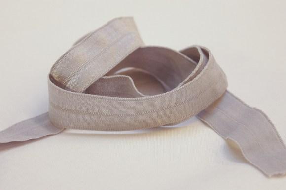 Elastik kantebånd -sart lysegrå 2 cm. br.