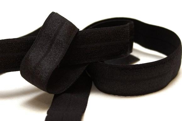 Elastik kantebånd - sort 2 cm. br.