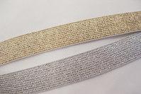 Guld- og sølvelastik 2cm