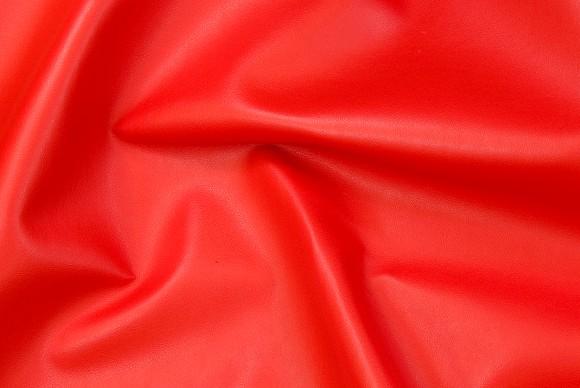 Imiteret skind i ferrari-rød