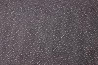 Koksgrå babyfløjl med små lysegrå ministjerner