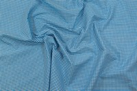 Let polyester-bomuld minitern i turkis