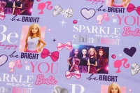 Lilla bomuldsjersey med Barbie-motiver
