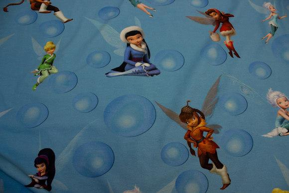 Lys blå bomulds-jersey med alfer