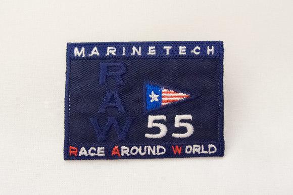 Marine tech navy strygemærke 6x5cm