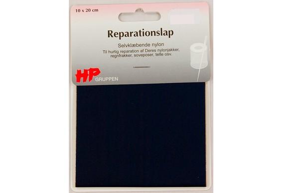 Marineblå nylon reparationslap 10 x 20 cm