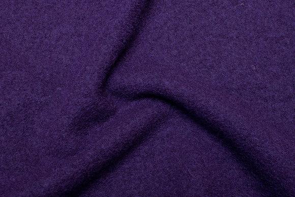 Mørk lilla uldbouclé i flot kvalitet