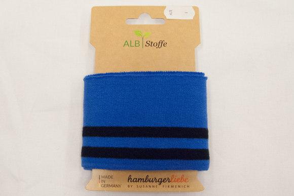 Ribkant coboltblå med sorte striber